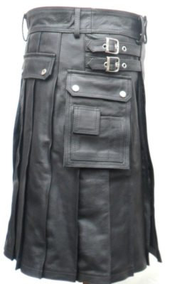 black mens fashion kilt