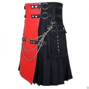 red and black kilt