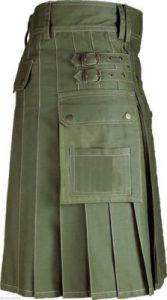Olive Green Color kilt
