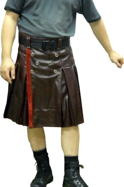dark burgundy color kilt