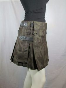 camouflage long skirt kilt