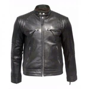 modern leather zipper jacket