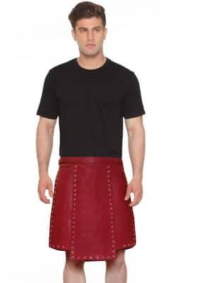 pure red color warrior kilt
