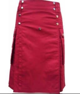 modern red color kilt