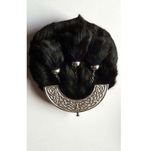 Men/'s Full Dress Sporran Blue Rabbit Fur Celtic Candle //Scottish Kilt Sporrans