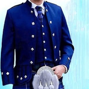 modern royal blue jacket