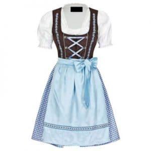 white and blue dirndl dress