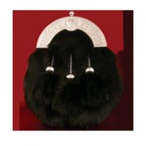 Buy New Design Black Rabbit Fur Sporran