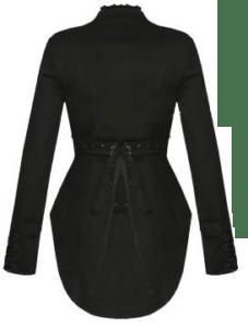 womens black coat new
