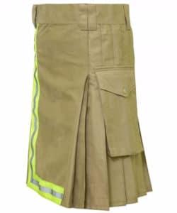 khaki fireman kilt
