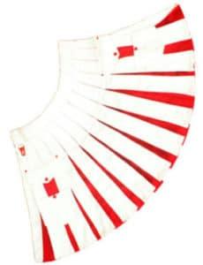 white and red kilt