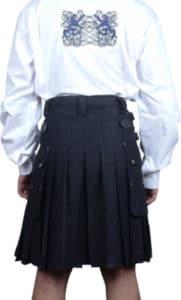 mens black dress kilt