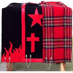 color black and red kilt