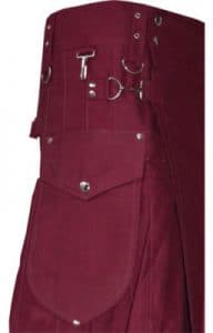 deep maroon color