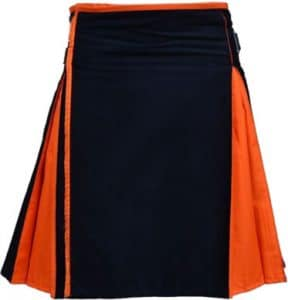 black and orange kilt