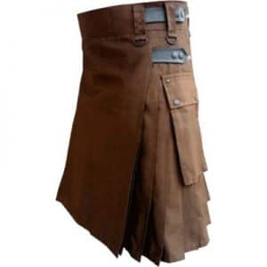 chocolate brown color kilt