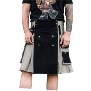black and gray kilt