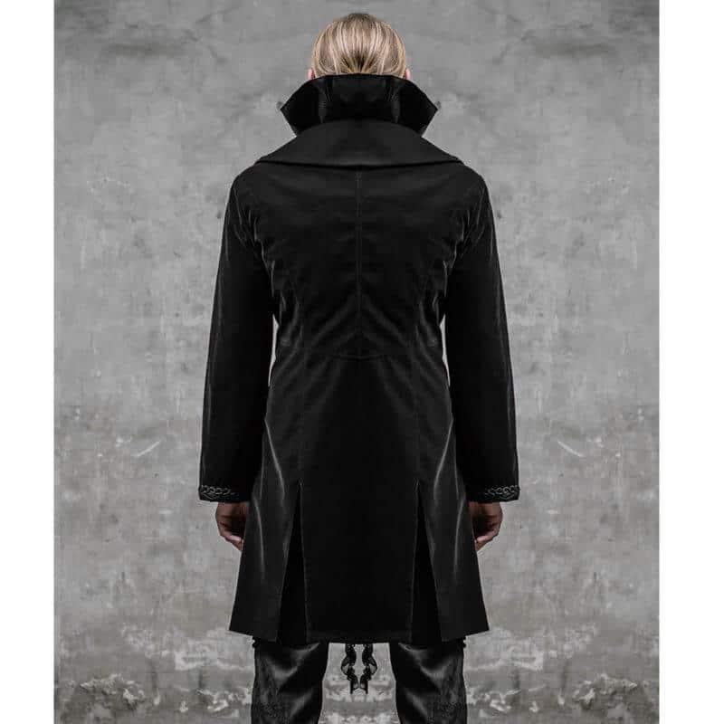 Mens Gothic Military Style Jacket Black Steampunk Rock Army Braiding Jacket