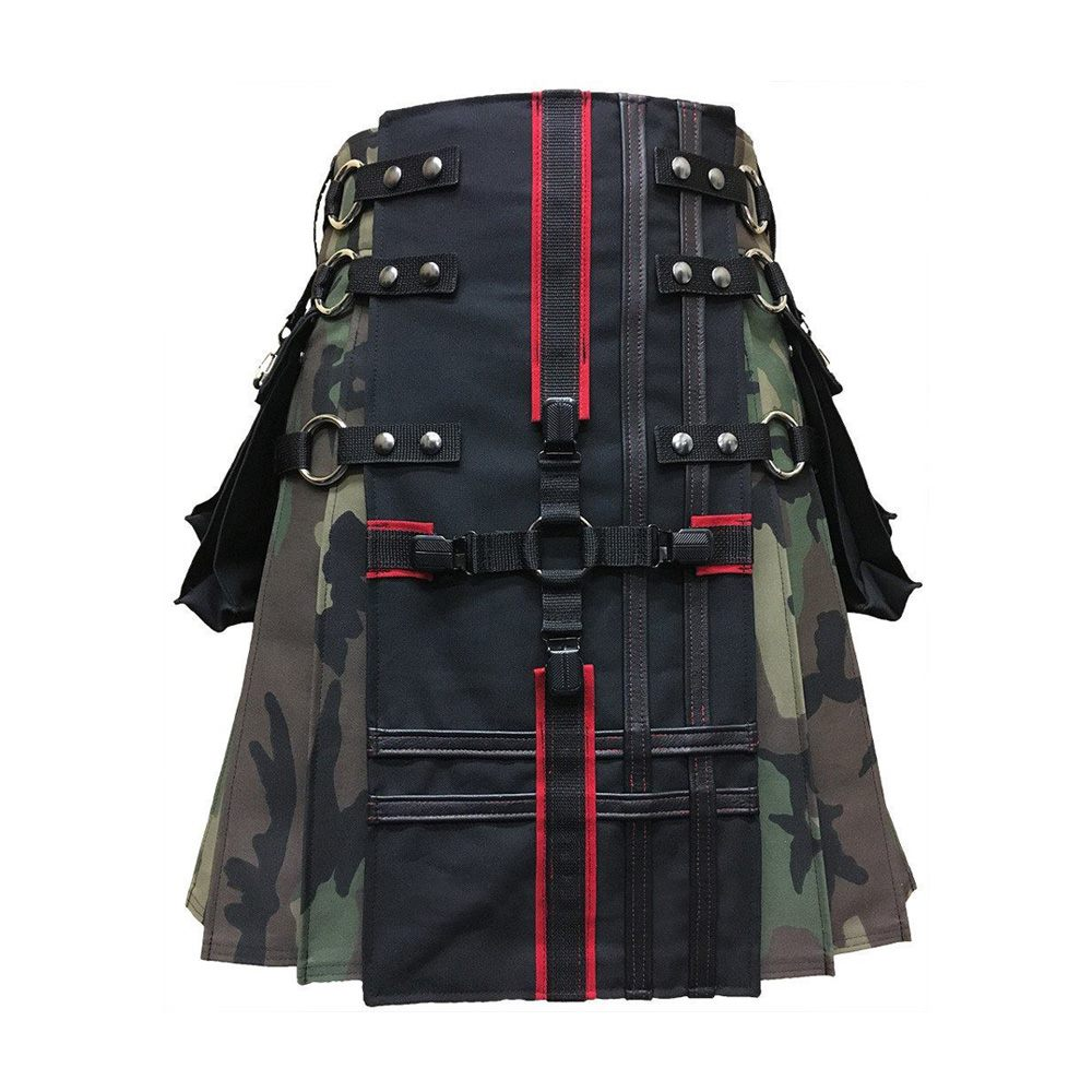 Interchangeable Camouflage Gothic Kilt