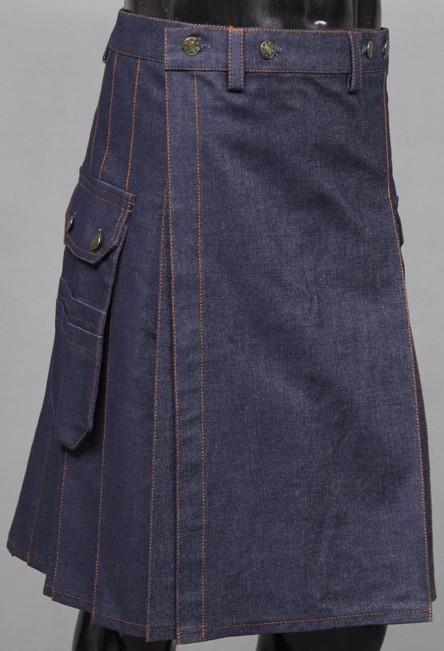 Deluxe Denim Jeans Utility Kilt