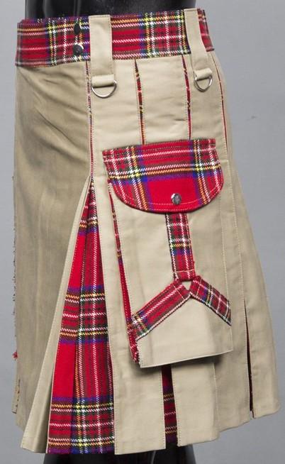 Khaki New Hybrid Kilt