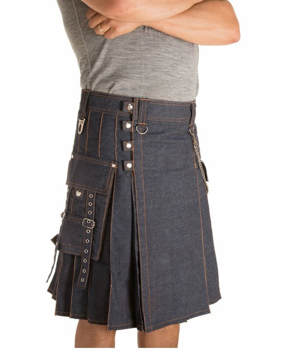 new denim kilt