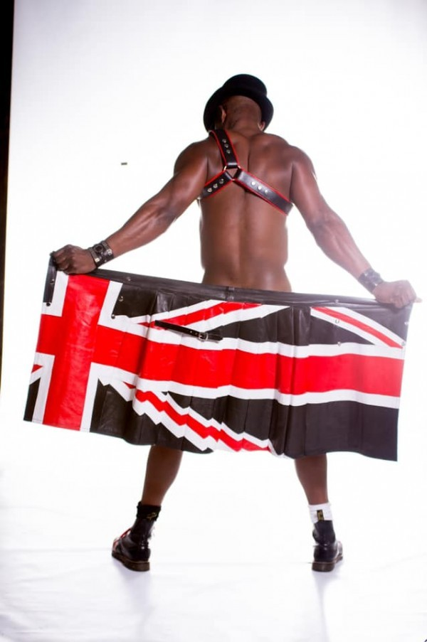 UK Flag Leather Kilt