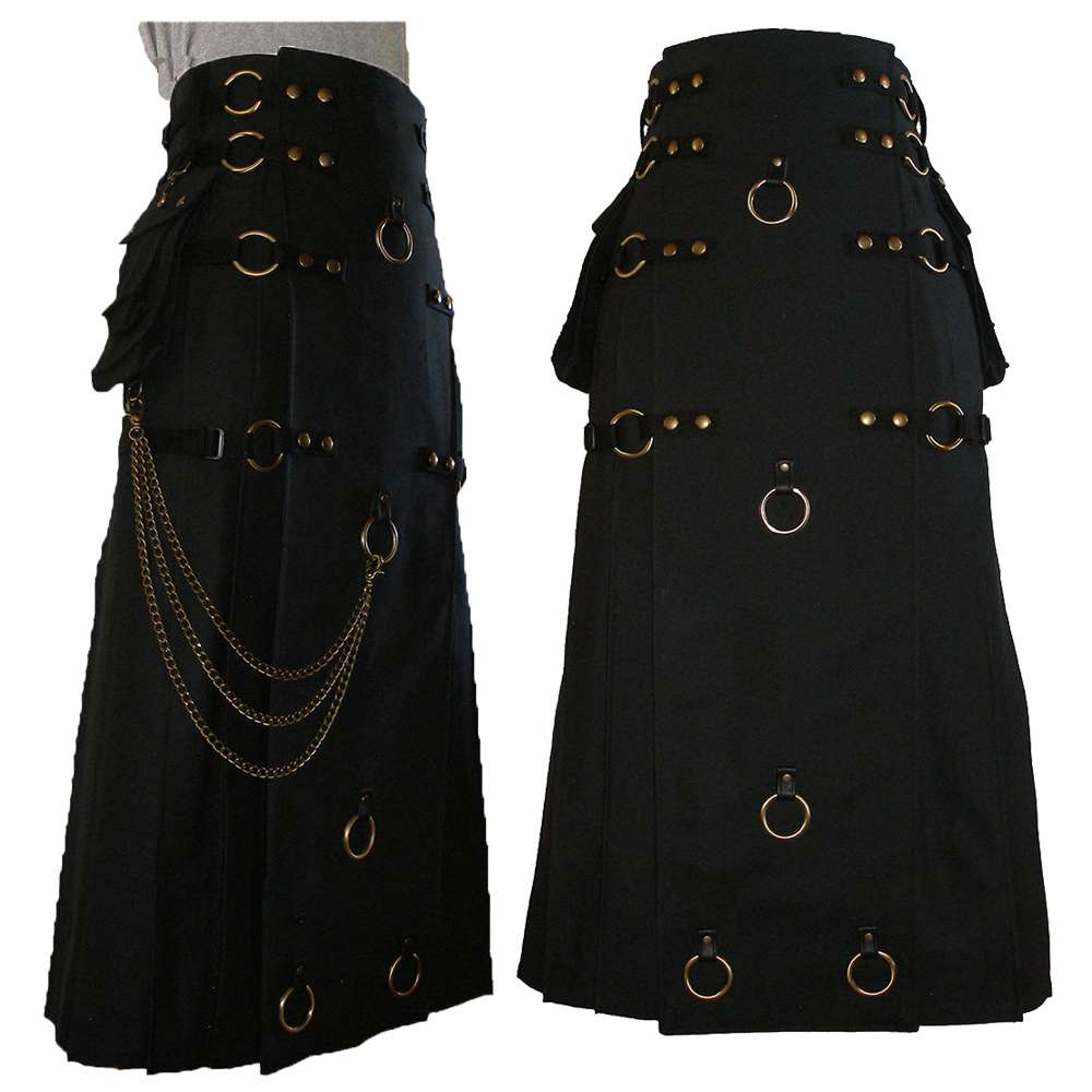 Gothic Steampunk Long Kilt