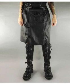 Leather Rock Star Kilt