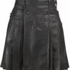 Modern Leather Black Kilt