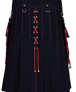 Black Red Hybrid Kilt