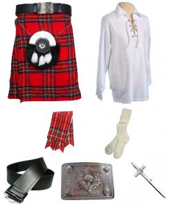 Royal Stewart Tartan Kilt Outfit