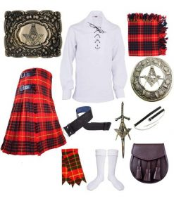 Cameron Red Tartan Outfit