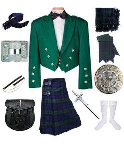 Prince Charlie Blackwatch Kilt Outfit