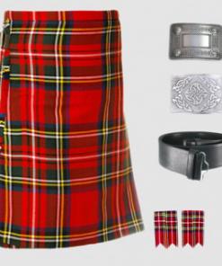 Royal Stewart Tartan Kilt Outfit Package